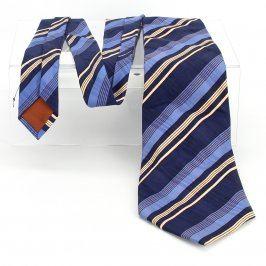 Pánská kravata pruhovaná modrá