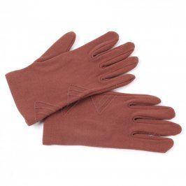 Prstové elegantní rukavice odstín hnědé