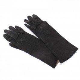 Prstové elegantní rukavice černé dámské
