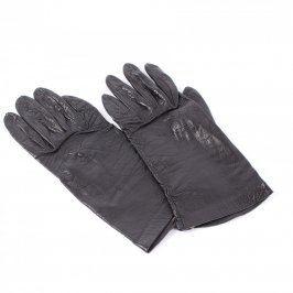 Prstové rukavice dámské černé koženkové
