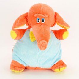 Plyšová hračka oranžový slon