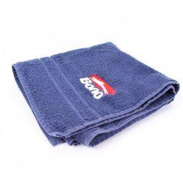 Modrý ručník s nápisem BONO