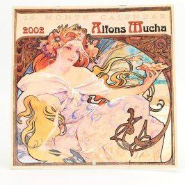 Kalendář Alfons Mucha 2002