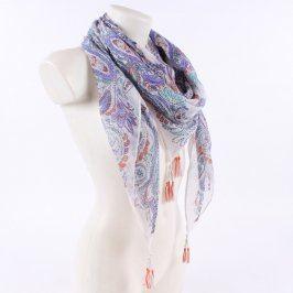 Dámský šátek TCM Tchibo se vzory květin