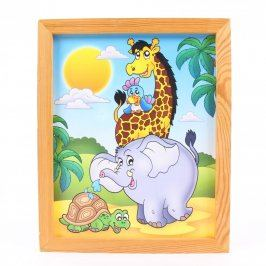 Dětská dekorace obrázek se zvířátky