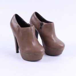 Dámské boty zapínání na zip Mixer hnědé