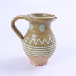 Džbán okrasný keramický malovaný