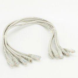 5x UTP Patch kabel RJ45 šedý délka 50 cm