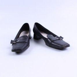 Dámské elegantní mokasínky Baťa černé