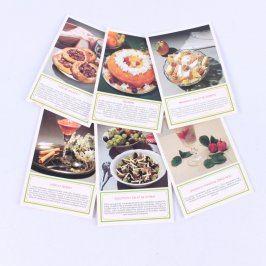 Sada pohlednic s kuchařskými recepty