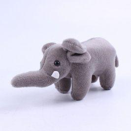 Plyšová hračka slon šedý KFC