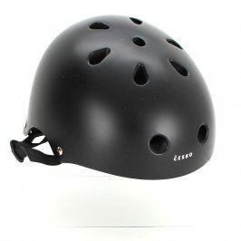 Lyžařská helma černá s nápisem Česko