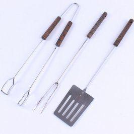 Grilovací nářadí s dřevěnými rukojeťmi