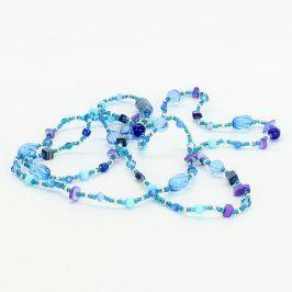 Dlouhý náhrdelník z modrých kamínků