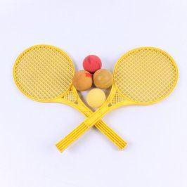 Badmintonový set žlutý s míčky