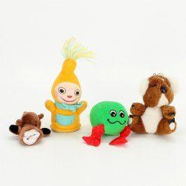 4 plyšové hračky mix druhů