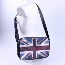 Crossbody taška černá s vlajkou VB