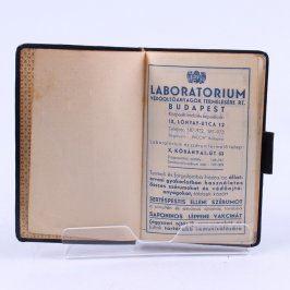 Osobní diář Laboratorium Budapest 1938