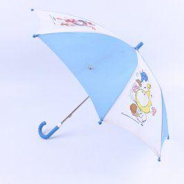Dětský deštník modrobílý s obrázky