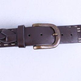 Dámský ozdobný pásek tmavě hnědý