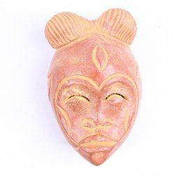 Dekorace keramická hlava pro zavěšení na zeď