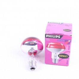 Žárovka Philips R80 60 WATT červená