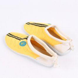 Boty do vody Azur žlutá barva