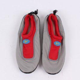Boty do vody Azur šedo-červené