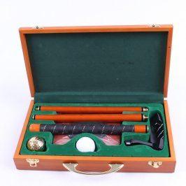 Luxusní golfový set v dřevěném kufříku