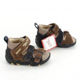 Dětské sandále Superfit kotníkové hnědé