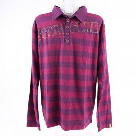Pánské tričko Skunkfunk fialové s pruhy