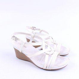 Dámské sandále Geox na klínku bílé