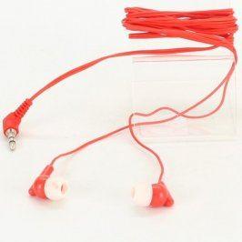 Sluchátka do uší jack 3,5 mm červená