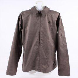 Pánská bunda s límečkem na zip CAPP3L hnědá
