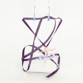 Set náhrdelníku a náušnic motiv baletka