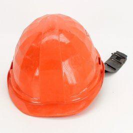 Průmyslová ochranná přilba oranžová