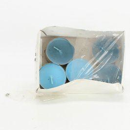 Čajové svíčky IKEA modré barvy