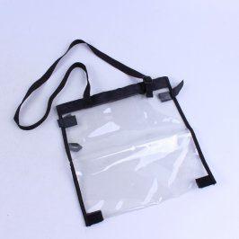 Kosmetická taška průhledná s černými detaily