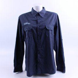 Pánská košile C&A s jemným proužkem modrá