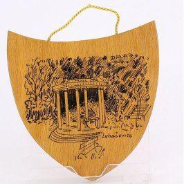 Dřevěná plaketa Luhačovice
