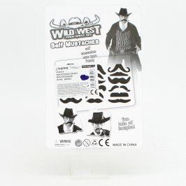 Party maska: Nalepovací vousy 6 ks