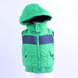 Dětská vesta F&F zelená s modrým pruhem