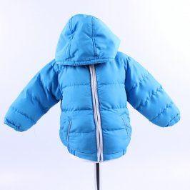 Dětská bunda odstín modré s kapucí
