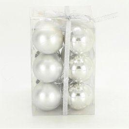 Vánoční ozdoby Fit Global stříbrné