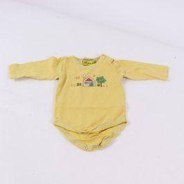 Dětská body Baby-Kap žluté s domečkem