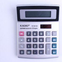 Kalkulačka Kadio KD-6815B solární stříbrná