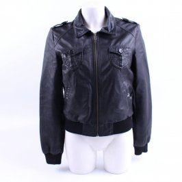 Dámská kožená bunda H&M černá