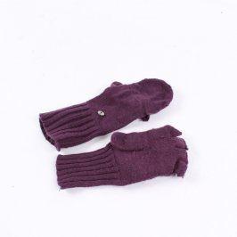 Dámské rukavice 2v1 fialové
