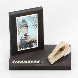 Upomínkový předmět dřevěný stojan Štramberk