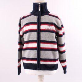 Chlapecký svetr na zip pruhovaný